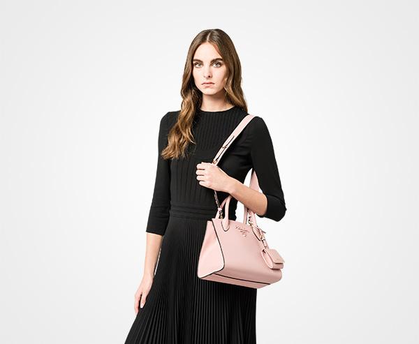 671234b4e591 ... Prada Monochrome Saffiano leather bag Prada PEACH ...