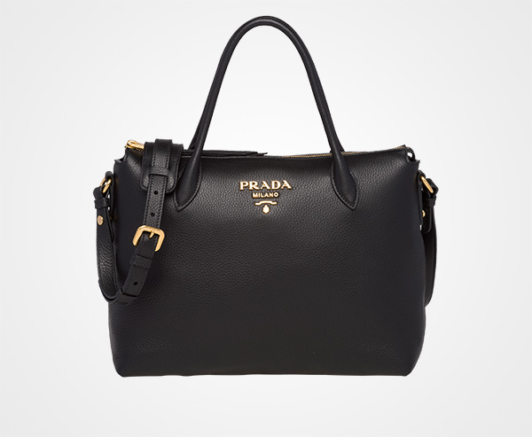ae24d3f0c3b15 Calf leather bag Prada BLACK ...