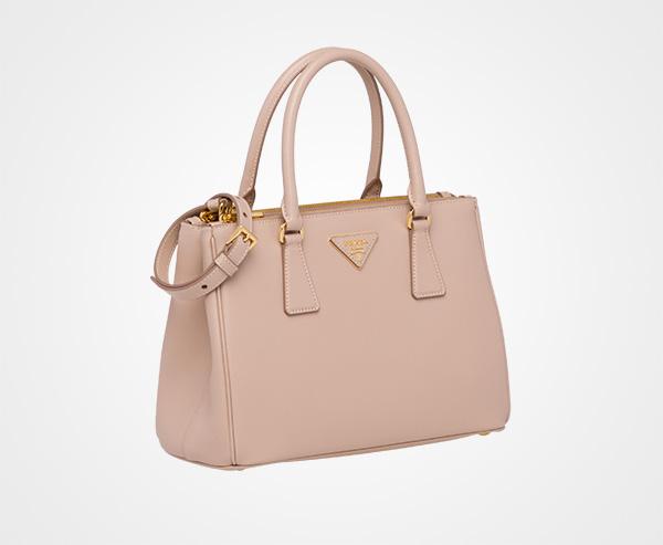 ef1b3e6e371e ... Prada Galleria Small Saffiano Leather Bag Prada POWDER PINK ...
