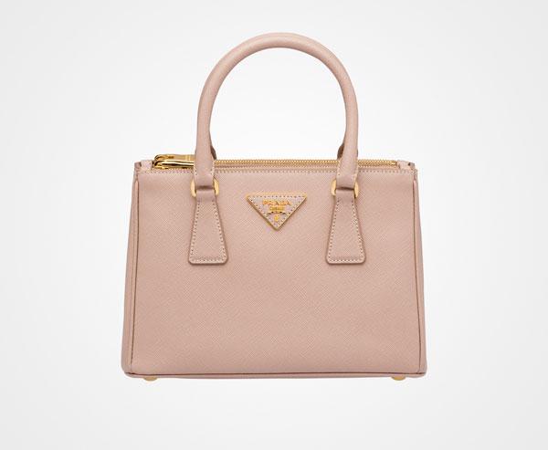 Prada Galleria Saffiano Leather Bag Color: CAMEO BEIGE
