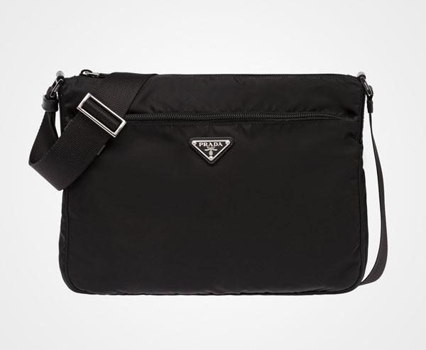 c23a8bb79aa8 Fabric Shoulder Bag Prada BLACK ...