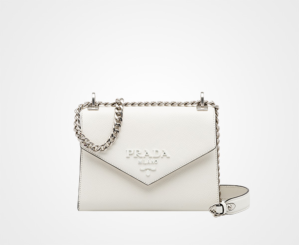 ab3ddf363c Prada Monochrome Saffiano leather bag Prada WHITE 1 ...