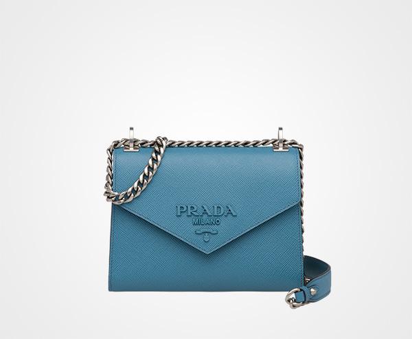 d851ca7e191a Prada Monochrome Saffiano leather bag Prada AVIATION BLUE ...