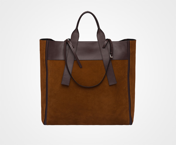 5d725bf72449cd ... Prada Ouverture maxi leather bag Prada PALISANDER/CROCODILE ...