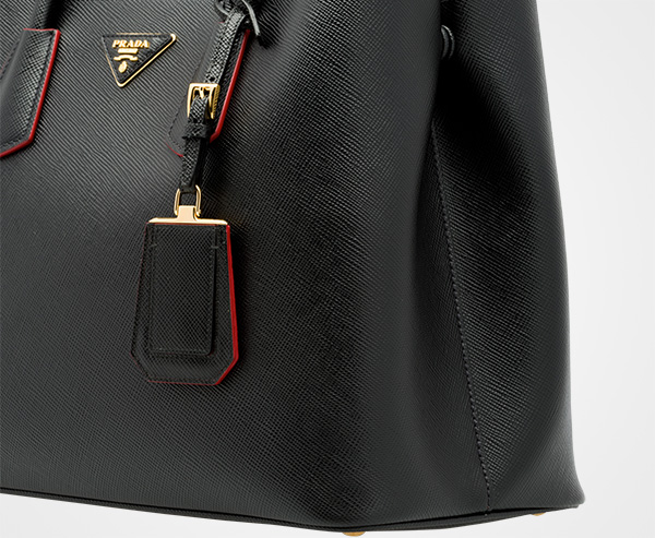 8f2928686d26 ... Prada Double Bag Large Prada BLACK/FIERY RED ...