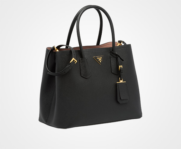 Prada Cuir Double Tote Saffiano Leather Medium 4aQJY