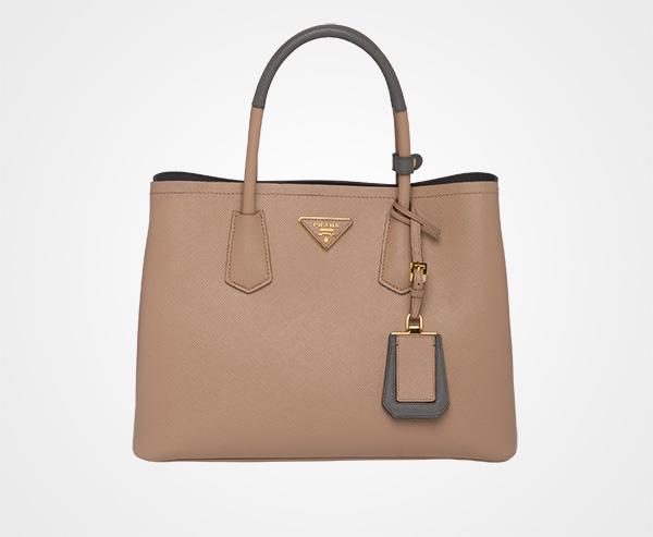 cb8e9ddb7a53 Prada Double Medium Bag Prada CAMEO BEIGE MARBLE GRAY ...