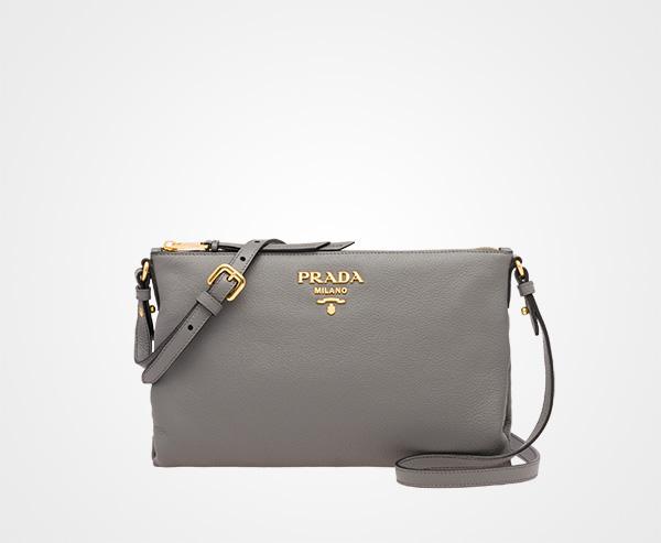 faed6a8b0154 Calf leather bag Prada MARBLE GRAY ...