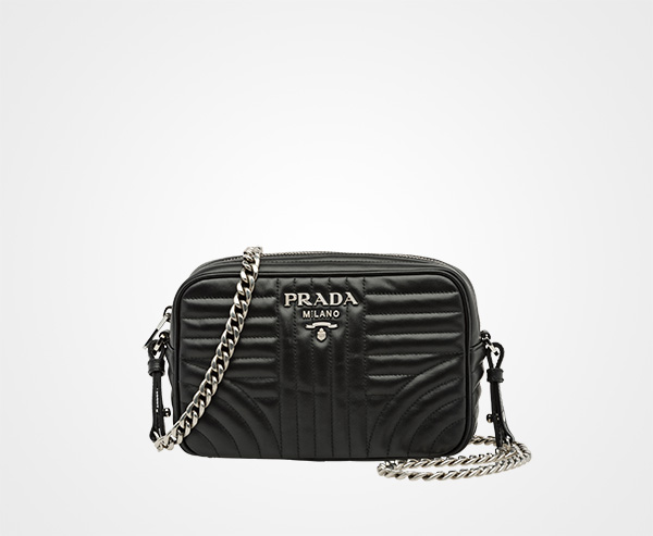 Cross Body Bags - Diagramme Crossbody Bag Black - black - Cross Body Bags for ladies Prada nJDqVZ