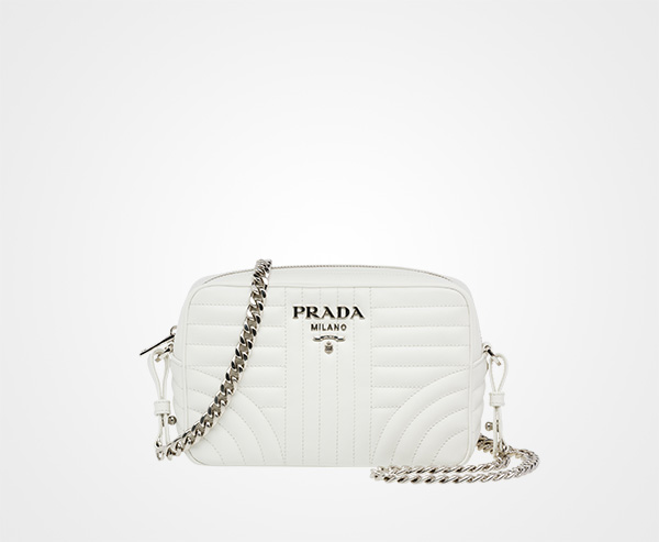 0b0deae0d6 Prada Diagramme leather cross-body bag Prada WHITE ...