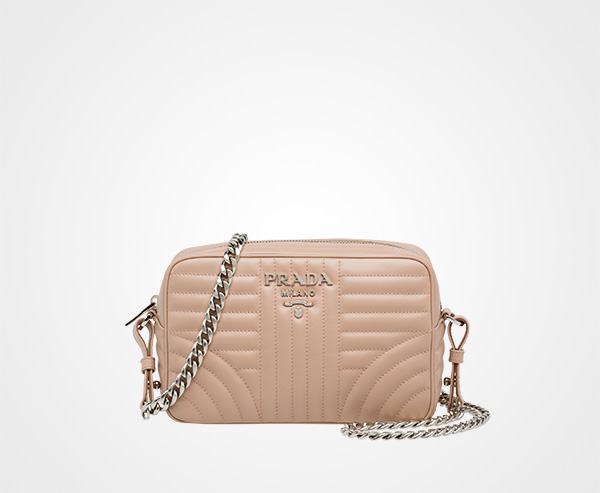 f9e3ea5f8e Prada Diagramme leather cross-body bag Prada POWDER PINK ...