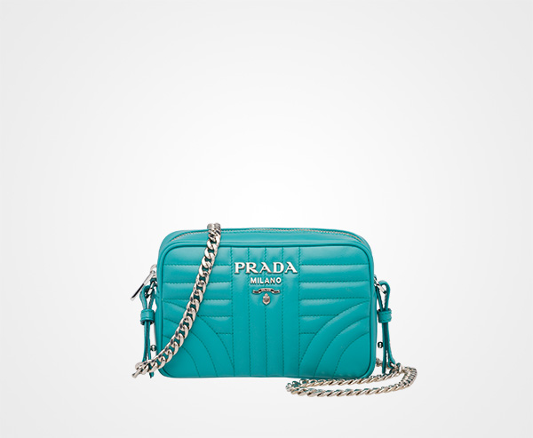 8926cbc021dc Prada Diagramme leather cross-body bag Prada JADE GREEN ...