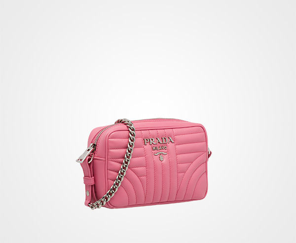 Pink diagramme Leather cross body bag - Pink & Purple Prada OgiYdr