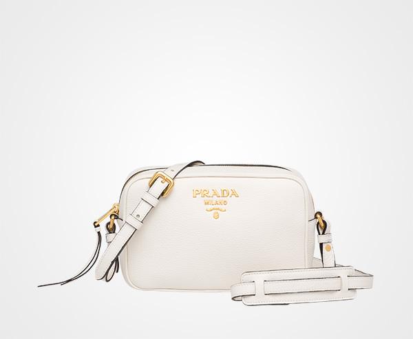 ff6842ccd6 Leather shoulder bag Prada WHITE ...