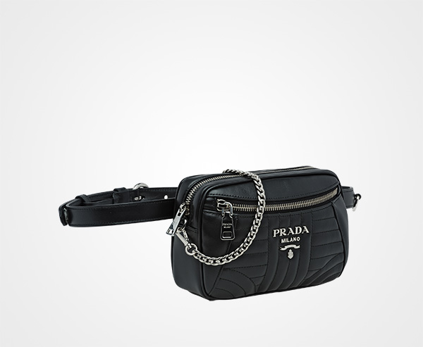 15b6a797b267 ... Prada Diagramme Leather Belt Bag Prada BLACK ...