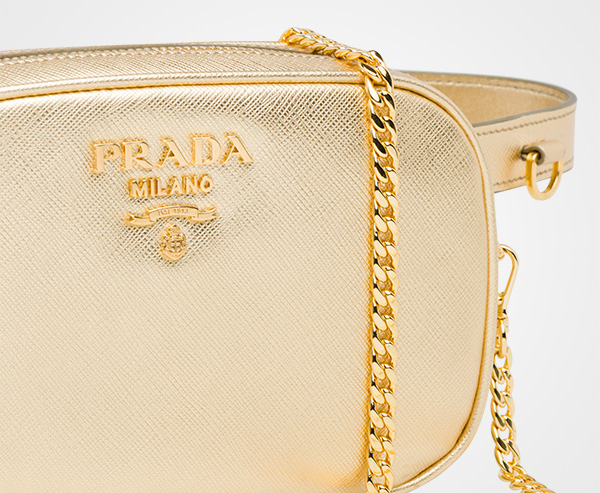 f55b27ecfebd ... Saffiano leather belt bag Prada PLATINUM ...