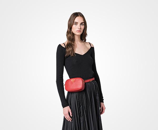 0858c22e0d Saffiano leather belt bag