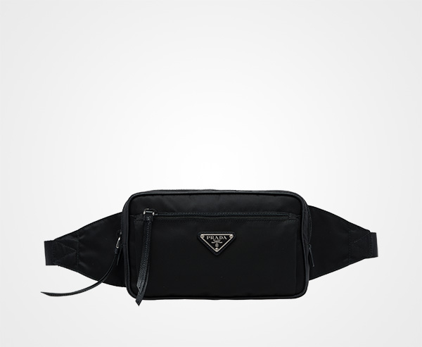black logo two pocket belt bag Prada EWil6L