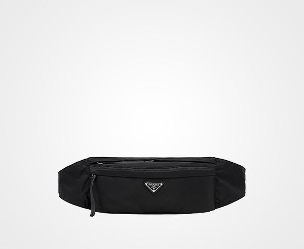 03d5371f3edc Fabric and leather belt bag Prada BLACK ...
