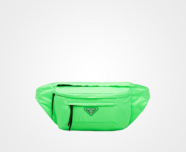 6b8ef38acd7d Nylon belt bag Prada FLUORESCENT GREEN ...