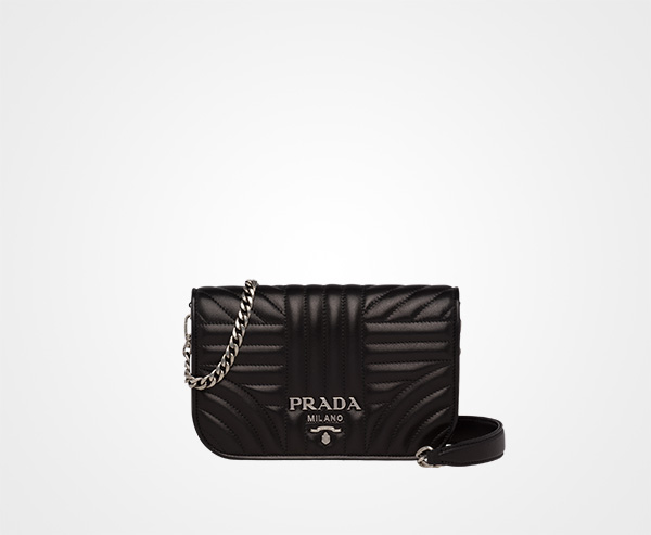 fcc1e81015a4 Prada Diagramme nappa leather bag Prada BLACK ...