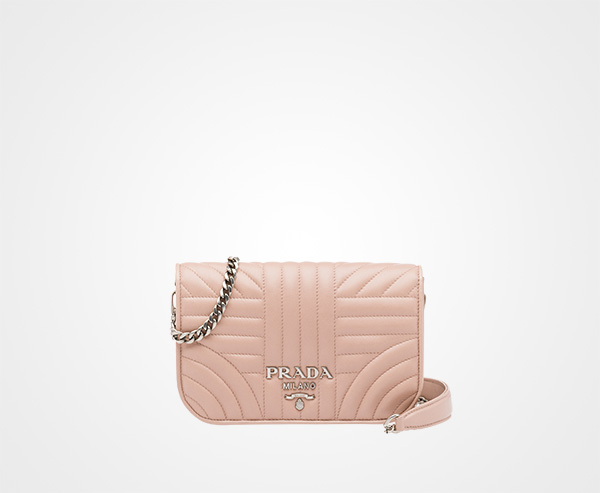 f2161d71749c Prada Diagramme nappa leather bag Prada POWDER PINK ...