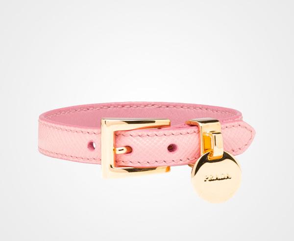 Saffiano Leather Bracelet Prada Petal Pink