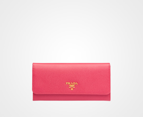 9bc96ca58a207f Leather Wallet Prada PEONY PINK ...
