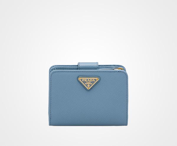 edb2c02d73a5 Small Saffiano leather wallet Prada ASTRAL BLUE ...