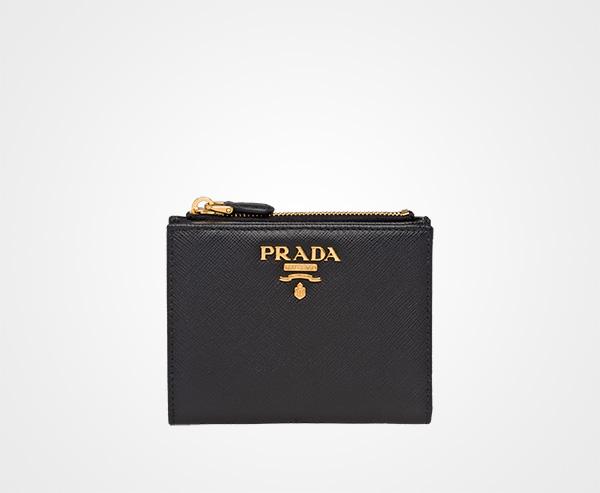 Saffiano leather wallet Prada BLACK ... cc2a8b23cc2