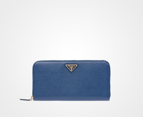 c6908d2ad955 Large Saffiano Leather Wallet Prada BLUETTE ...