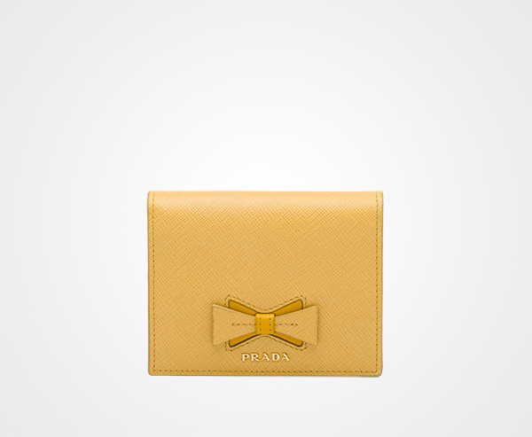 e3fdc12233 Small Saffiano leather wallet with bow | Prada
