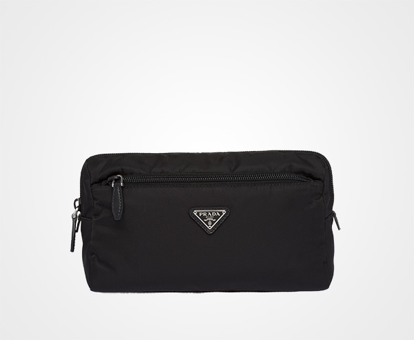 64af90ac0120 Nylon travel pouch Prada BLACK/ASTRAL BLUE ...