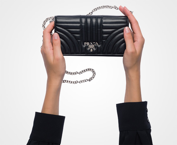 ab2f3d34264c71 ... Leather Mini Bag Prada BLACK ...