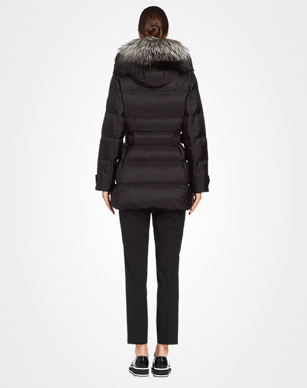 Free Shipping 100% Original Prada Fur Trimmed Hooded Jacket Outlet Footaction Purchase For Sale DpATFBFx6Q