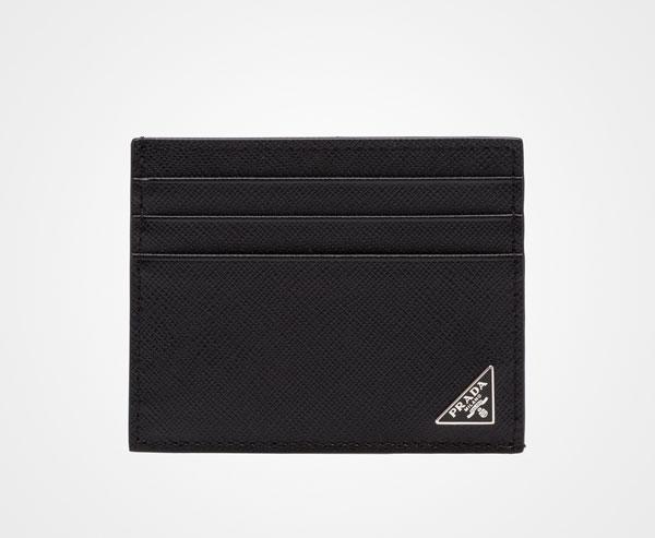 1cba630f9622 Saffiano Leather Card Holder Prada BLACK ...