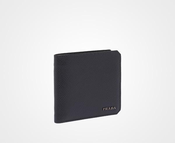 fae984ad9f7b Saffiano leather wallet Prada BLACK; Saffiano leather wallet Prada BLACK ...