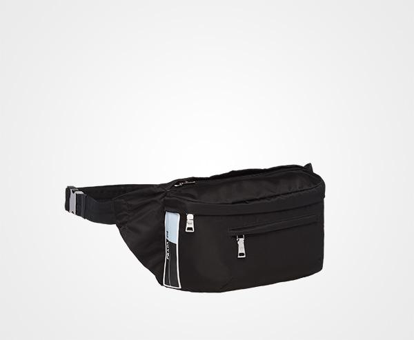 0e24f250d944 ... Nylon Belt Bag Prada BLACK ...