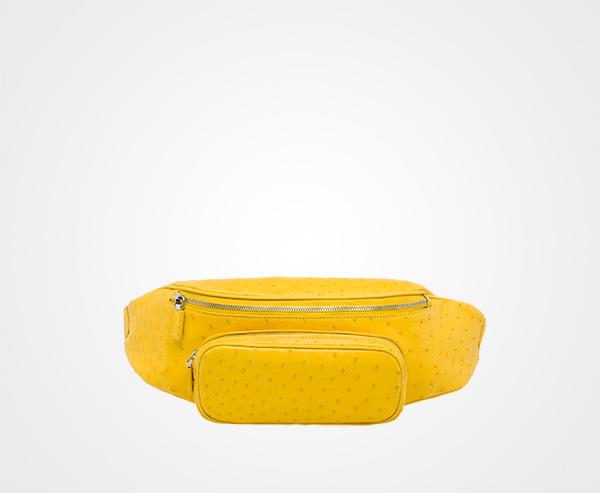 f2321bb9b9fbb4 Ostrich Leather Belt Bag Prada SUNNY YELLOW ...