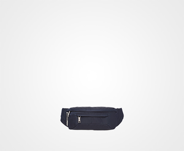 Technical fabric belt bag Prada BLUE ... 0ccaf64078