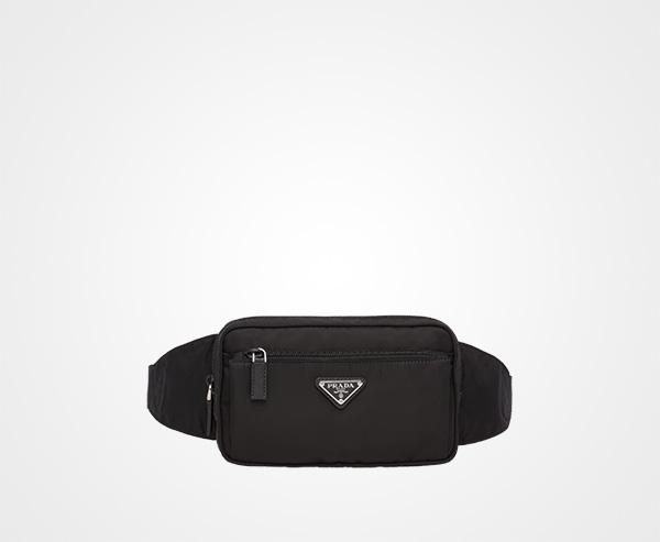 332b13e0e12 Nylon Belt Bag Prada BLACK ...
