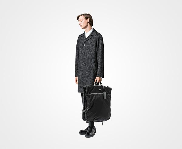 3f578f032e Saffiano leather and nylon garment bag | Prada