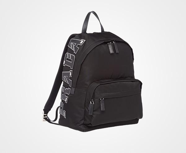 96ce2bbf98 ... italy nylon and saffiano leather backpack prada black b3e62 1b843