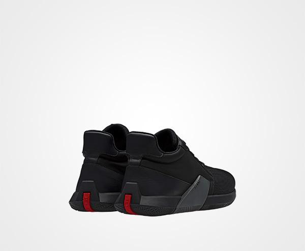PradaTechnical fabric logo sneakers zqkjw