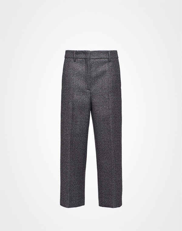 454f479c47 Compact mouliné Prince of Wales trousers | Prada