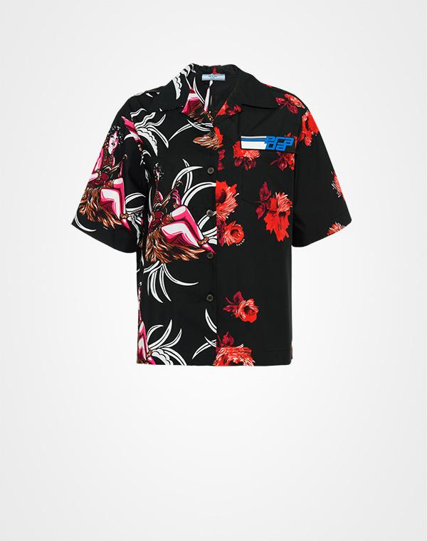 b82ecc36dc Printed cotton poplin shirt   Prada