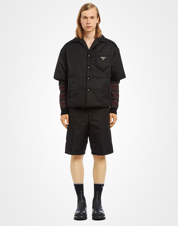 acab573b89 Padded nylon gabardine shirt   Prada
