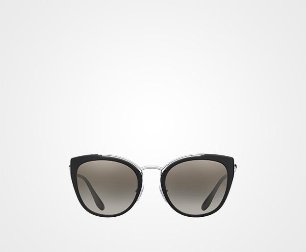 50330956aa3d Prada Eyewear Collection Prada ANTHRACITE GRAY TO LAKE BLUE GRADIENT LENSES  WITH SILVER MIRROR FINISH ...