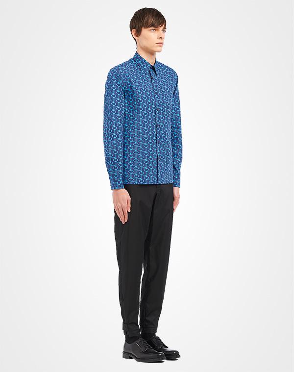 4e206ff4e8 Poplin shirt with key print   Prada