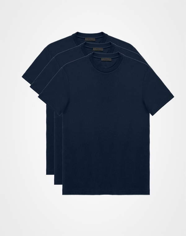 515c355bd Three Pack Cotton Jersey T-Shirts Prada NAVY ...